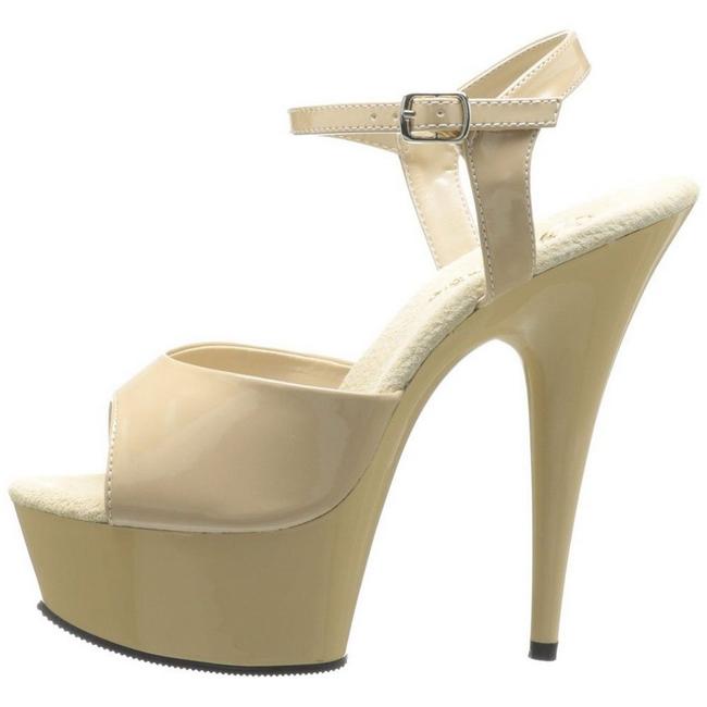 DELIGHT-609 chaussures à talons hauts pleaser beige taille 35 - 36