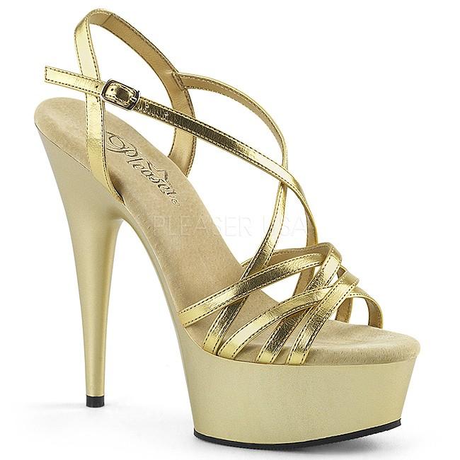 DELIGHT-613 chaussures à talons hauts pleaser dorée taille 37 - 38